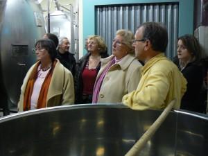 Visite de la cuverie en compagnie de Patrick SOUTIRAN (à droite), vigneron à Ambonnay (1er Cru)